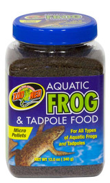 Zoo Med Aquatic Frogs and Tadpoles High Sinking Healthy Food Micro Pellet 12 oz