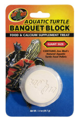 Zoo Med Aquatic Turtle Banquet Block Food and Calcium Supplement Treat Giant