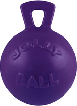 Jolly Pets Tug-n-Toss Ball with Handle Purple 4.5 inch   Rubber Toy for Dogs
