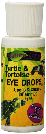 Nature Zone Turtle Eye Drops Open and Cleans Inflamed Prevents Eye Problems 2 oz
