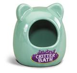 Kaytee Ceramic Critter Bath | Durable Wash House for Small Animals