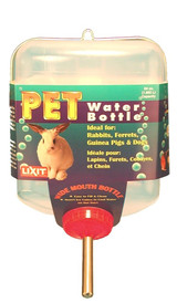 Lixit Pet Water Bottle 64 oz | With Ball Bearing Drink Tube | For Small Animals