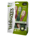 Whimzees Large Toothbrush Dog Treats Natural Healthy Vegetable 6 count
