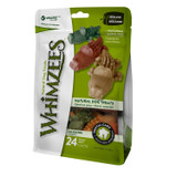 Whimzees Small Alligator Dog Treats Natural Healthy Vegetable 24 count