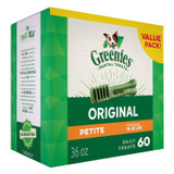 Greenies Original Petite Size 60 count 36 oz | Dental Chew Treats for Dogs
