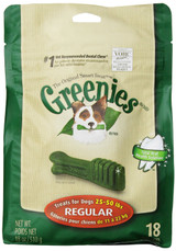 Greenies Original Regular Size 18 count 18 oz | Dental Chew Treats for Dogs