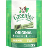 Greenies Original Teenie Size 22 count 6 oz | Dental Chew Treats for Dogs