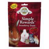 Oxbow SIMPLE REWARDS Treats - Rabbit Guinea Pig Chinchilla STRAWBERRY .5 oz