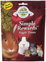 Oxbow SIMPLE REWARDS Treats - Rabbit Guinea Pig Chinchilla VEGGIE 2 oz