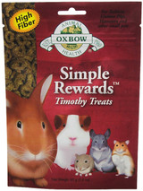 Oxbow SIMPLE REWARDS Treats - Rabbit Guinea Pig Chinchilla TIMOTHY 1.4 oz