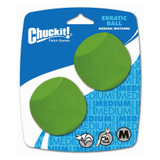 Chuckit! Dog Fetch Toy ERRATIC BALL Unpredictable Bounce Fits Launcher MEDIUM