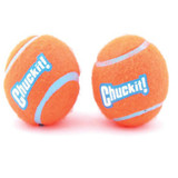 Chuckit! Dog Fetch TENNIS BALLS Floating Soft Toy Fits Launcher SMALL 2 Pack