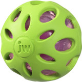 JW Pet CRACKLE HEADS BALL Rubber Durable Fetch Chew Dog Toy 2.75 inch MEDIUM