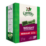 Greenies Weight Management Regular Size 27 count 27 oz | Dental Treats for Dogs