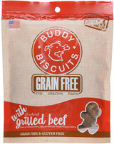 Buddy Biscuits Grain-Free Grilled Beef 5 oz | Soft and Chewy Treats for Dogs