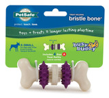 PetSafe Busy Buddy BRISTLE BONE Dog Toy Dental Treat and Chew Extra-Small