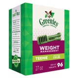 Greenies Weight Management Teenie Size 96 count 27 oz | Dental Treats for Dogs