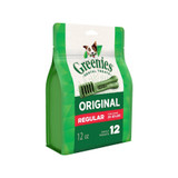 Greenies Original Regular Size 12 count 12 oz | Dental Chew Treats for Dogs