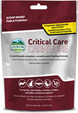 OXBOW Carnivore Critical Care Pet Food Powdered Formula Supplement 2.5-Ounce