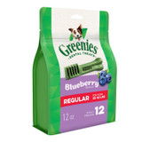 Greenies Bursting BlueBerry Regular Size 12 count 12 oz | Dental Treats for Dogs