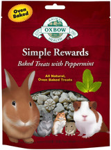 OXBOW Simple Reward Small Animal Treats Peppermint Oven Baked Fiber 2 oz