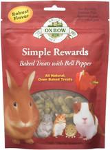 OXBOW Simple Reward Small Animal Treats Bell Pepper Oven Baked Fiber 2 oz