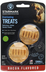 StarMark Everlasting Dog Treat Toy Bacon Edible Dental Chew Small