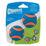 Chuckit Ultra Squeaker High Bounce Visibility Durability Dog Toy Small 2 pack