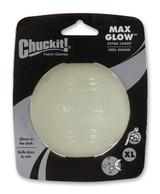 Chuckit Max Glow Ball Glows in the Dark X-Large Dog Toy 3.5 - inch
