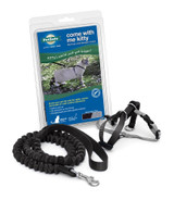 PetSafe COME WITH ME KITTY Cat Harness and Bungee Leash Black Medium