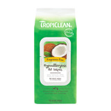 TropiClean Hypo Allergenic Deodorizing Bath Pet Safe Wipes Alcohol-Free 100count