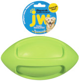 JW Pet ISqueak Bouncin Football Squeaky Durable Rubber Interactive Toy Large