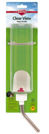 Kaytee Clear View Water Bottle Heavy Duty Spring Attachment 16 oz