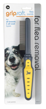 PetMate JW Pet GripSoft Flea Comb for Dogs