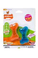 Nylabone Moderate Chew Tiny Bones Twin Pack for Dogs up to 8 Pounds