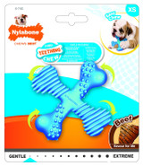 Nylabone Puppy Chew Beef Flavored X-Small X Bone for Dogs up to 15 Pounds