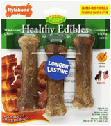 Nylabone Healthy Edibles Small Bacon Flavored Bones for Dogs 3 Pack