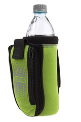 Dexas Bottle Pocket Insulated Neoprene Bottle Holder with Travel Cup Green 1.9oz