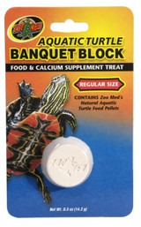 Zoo Med Aquatic Turtle Banquet Block Food and Calcium Supplement Treat Regular