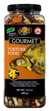 Zoo Med Gourmet Tortoise Food Natural with Added Vitamins and Minerals 13.5 oz