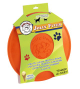 Jolly Pets Flyer Natural Rubber Floating Disc Interactive Dog Toy Orange 9.5inch