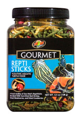 Zoo Med Gourmet Reptisticks Floating Aquatic Turtle Food Healthy Meal 4.5 oz