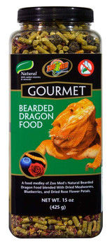 Zoo Med Natural Gourmet Bearded Dragon Food with Added Vitamins and Mineral 15oz