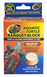 Zoo Med Aquatic Turtle Banquet Block Food and Calcium Supplement Regular 5 pack