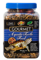 Zoo Med Gourmet Aquatic Turtle Pellets Blended Dried Shrimp Mealworms Food 6 oz