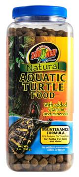 Zoo Med Natural Aquatic Turtle Food Maintenance Formula Vitamins Minerals 12 oz