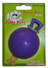 Jolly Pet Tug-n-Toss Mini Interactive Durable Float Bounce Dog Toy Purple 4 inch
