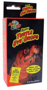 Zoo Med Repti Turtle Eye Drops 2.25 oz Cleans and Inflamed Turtle Eye Vitamin A