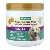 NaturVet Mushroom Max Advanced Immune Support with Turkey Tail 60 ct for Dogs