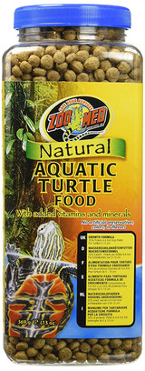 Zoo Med Natural Aquatic Turtle Food Growth Formula with Vitamin Minerals 13 oz